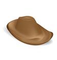 Brown Cowboy hat vector image