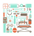 health and medicine icons vector image