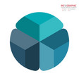 abstract element infographics 3 option design for vector image vector image