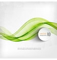 Abstract transparent green wave background vector image vector image
