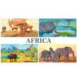 african safari animals composition vector image vector image