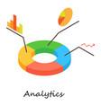 analytics icon isometric 3d style vector image vector image
