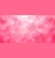 background with hearts on valentines day vector image