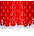 background with strawberries and a splash milk vector image