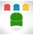 Baseball cap in modern flat design National vector image