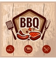 bbq logo 2 vector image vector image