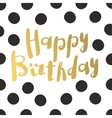 Beautiful happy birthday invitation cards vector image