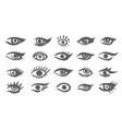 beautiful woman eyes ink drawing vector image vector image