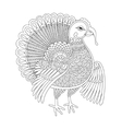 black and white line art turkey decoration for vector image
