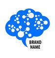 brain sign logo vector image vector image