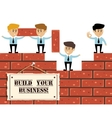 Build business concept vector image vector image