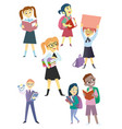 cartoon childrens set vector image