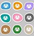 casual jacket icon symbols Multicolored paper vector image vector image