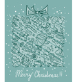 Christmas card vector image vector image