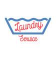 color vintage laundry services emblem vector image vector image