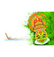 Colorful Kathakali Face vector image vector image