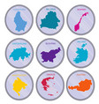 countries world on coins set vector image vector image