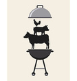 delicious barbecue barbeque vector image