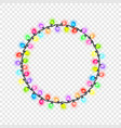 festive circular glowing garland vector image