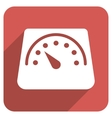 Floor Weight Meter Flat Rounded Square Icon with vector image vector image