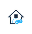 game house logo icon design vector image