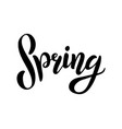 hand sketched spring text vector image vector image
