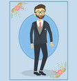 handsome wedding groom man vector image
