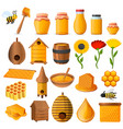 honey icon set cartoon style vector image
