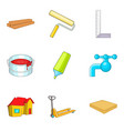 house fix icons set cartoon style vector image vector image