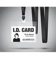 id card woman black vector image vector image