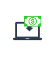 internet banking icon on white vector image