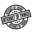 internet of things round grunge black stamp vector image vector image