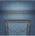 Jeans pocket top vector image