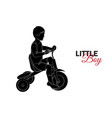 little child baby little boy riding a bicycle vector image vector image