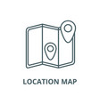 location map line icon linear concept vector image vector image