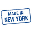 made in New York blue square isolated stamp vector image vector image