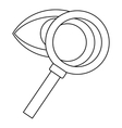 Magnifying glass and eye icon outline style vector image vector image
