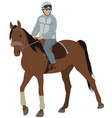 man riding a horse vector image vector image