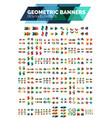 mega collection of geometric abstract banner vector image