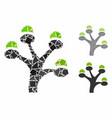 money tree composition icon irregular items vector image vector image