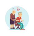 old people cartoon characters set senior vector image
