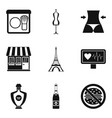 perfect body icons set simple style vector image vector image