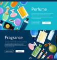 perfume bottles web banner templates vector image vector image
