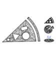 pizza piece polygonal web mesh vector image vector image