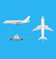 plane airplane in all point of view vector image