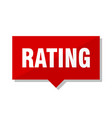 rating red tag vector image vector image
