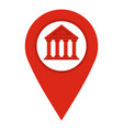 red map pin icon isolated vector image vector image