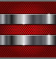 Red perforated background with stainless steel