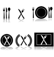 Restaurant and food icons vector image vector image
