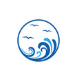 sea wave icon design template isolated vector image vector image